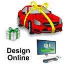 Diseño de cintas de regalo en línea