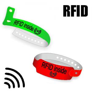 RFID textile wristbands