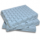 Bandeja de conteo de fichas de plástico