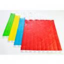Pulseras de papel Tyvek con un talón