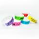 Pulseras de papel hechas de Tyvek, diseño online