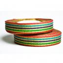 Rollo de cinta de lujo con estampado metálico multicolor para pulseras de tela