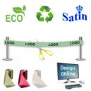 Diseño en línea de cinta de inauguración ecológica y sostenible.