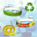 Pulseras textiles para festivales hechas de poliéster PET reciclado