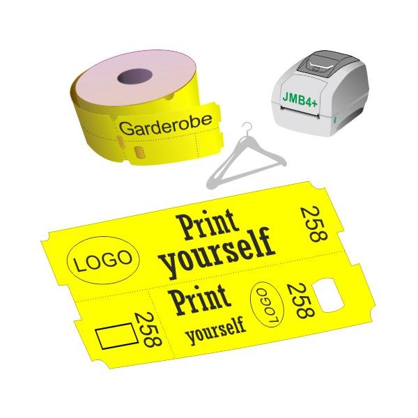 El boleto térmico directo del guardarropa rueda para la impresora JMB4+