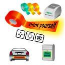 Imprima usted mismo usando la impresora térmica JMB4+ en cintas reflectantes