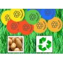 Fichas sostenibles hechas de almidón de patata
