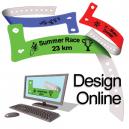 Diseñe pulseras de plástico en línea con logotipo y texto
