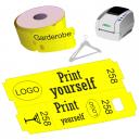El boleto térmico directo del guardarropa rueda para la impresora JMB4