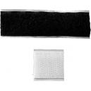 Cierres adhesivos de velcro para unir cintas anchas en una hoja