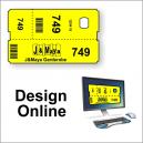 Boletos de guardarropa - diseño en línea