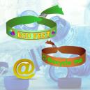 Pulseras de festival textiles hechas de poliéster PET reciclado
