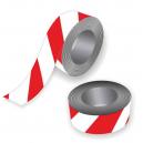 Cinta de barrera en rojo y blanco para eventos deportivos