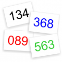 Números de carrera en stock para entrega inmediata