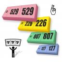 Sorteo de premios boletos de rifa 3 partes con numeración secuencial