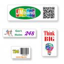 Adhesivos personalizados en formato A4 con texto y logotipo