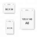 Bolsillos transparentes para tarjetas en diferentes tamaños