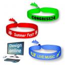 Diseña en línea tus propias pulseras de festival textil