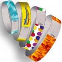 Pulseras de papel con estampado de patrones