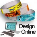 Pulseras de papel con diseño de patrones en línea