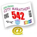 Números de carrera y números de competición personalizados