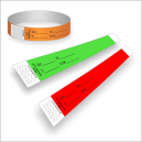 Pulseras de papel con impresión para identificación