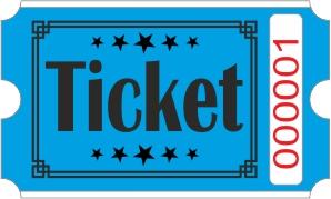 Roll Tickets - Azul